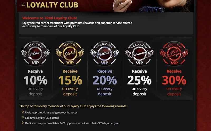 7red casino loyalty