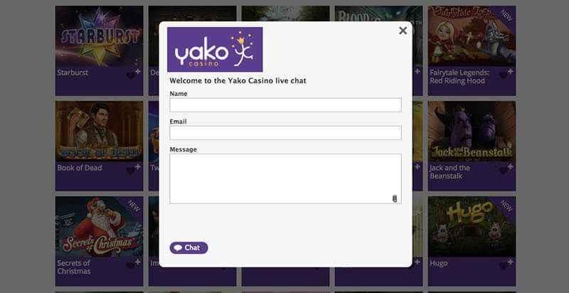 Yako live chat