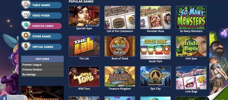 casino games types