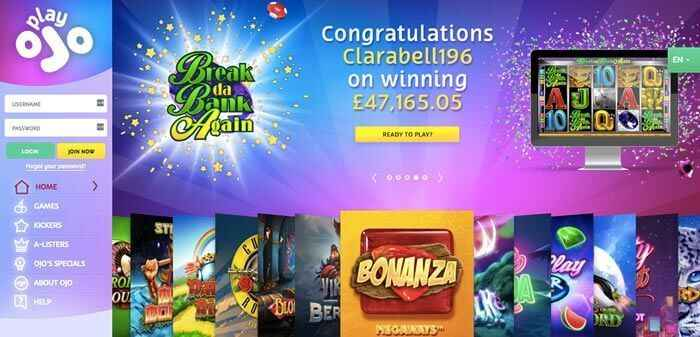 Play Ojo Casino Online